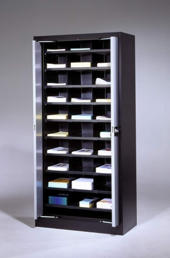 Stahlblech-Einschwenktürenschrank,950 mm breit,24 Fächer