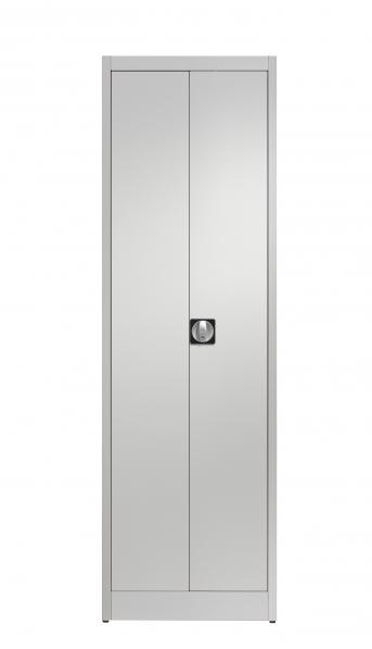 Stahlblech-Flügeltürenschrank,600 mm breit,4 Fachböden