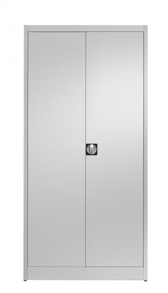 Stahlblech-Flügeltürenschrank,950 mm breit,500 mm tief,4  Fachböden