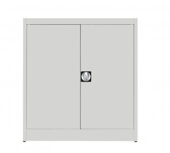 Stahlblech-Flügeltürenschrank,1016 mm hoch,1 Fachboden