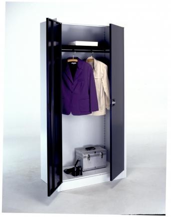 Stahlblech-Flügeltürenschrank,950 mm breit,500 mm tief,1 Kleiderstange und Hutboden