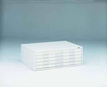 Stahlblech-Zeichnungsschrank DIN A1 - 5 Auszüge je 65 mm hoch