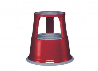 Rolltritt / Stahlblech, rot