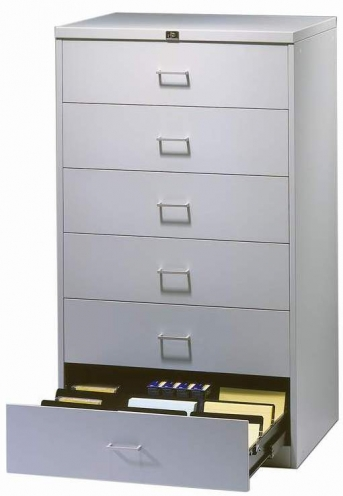 Stahlblech-Karteikartenschrank GR 6-3 DIN A 5 quer