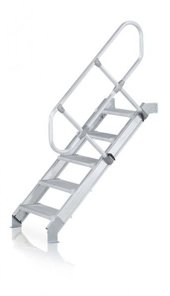Leichtmetall-Treppe m Leichtmetall Stufen, 600mm, 60°