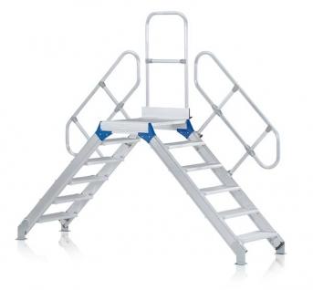 Leichtmetall-Überstieg mit Geländer, 600 mm, 60°