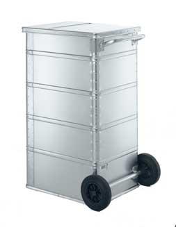 Alu-Papierentsorgungsbehälter