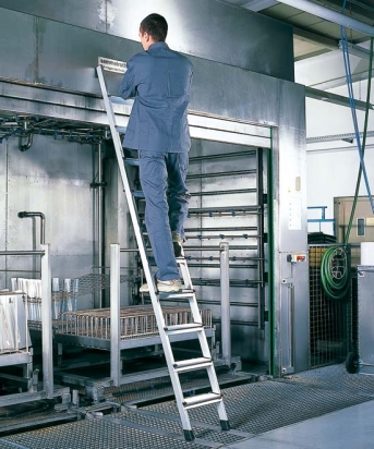 Leichtmetall-Stufen-Anlegeleiter