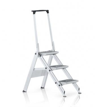 Leichtmetall-Sicherheitstreppe, klappbar, mit hochklappbaren Sicherheitsbügel