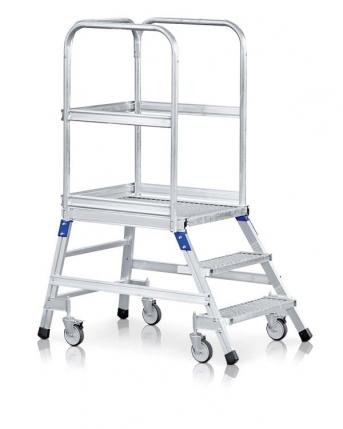Podesttreppe, fahrbar, einseitig begehbar