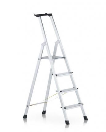 Stufen-Stehleiter mit Brücke einseitig begehbar, genietet