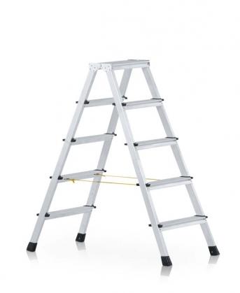 Stufen-Stehleiter beidseitig begehbar, genietet