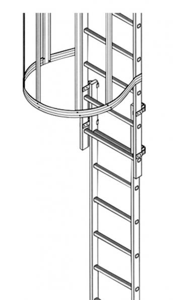 Leichtmetall -Fluchtleiter ab 5,6m Steigh. einsetzbar