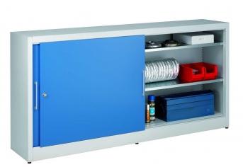 Universal-Schiebetürenschrank 1015x2000x420 mm, 2x2 Fachböden