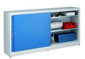 Universal-Schiebetürenschrank 1015x2000x600 mm, 2x2 Fachböden