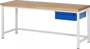 Werkbank Serie Basic 8, 2000 mm lang - 1 S