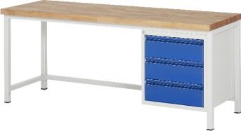 Werkbank Serie Basic 8, 2000 mm lang - 3 S