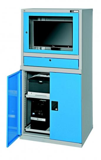 PC Universalschrank, stationär, mit tiefem Monitorgehäuse