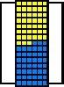 Kleinteile-Materialschrank SK 4-2 mit Tür und 90 Kästen MK
