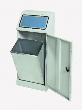 Sortsystem FD 45, selbstlöschend,  Einzelbehälter 45 Liter