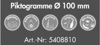 Piktogramm 100 mm Durchm., 5 Stück