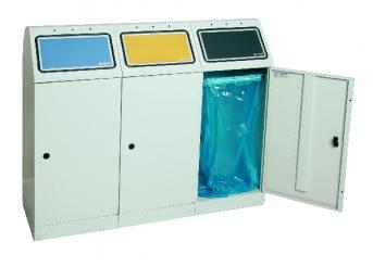 Sortsystem Flex-M, 3-fach Station für Abfalltüten
