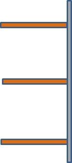 Palettenregal-Anbaufeld 2 Paletten nebeneinander je max. 2200 kg