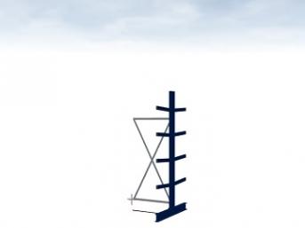 Anbauregall Typ M 2500 mm hoch Armlänge 400 mm