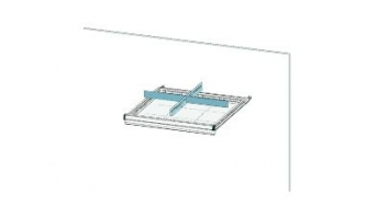 Trennwandset 4  Fächer für 75 mm Schublade