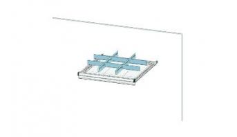 Trennwandset 9  Fächer für 75 mm Schublade