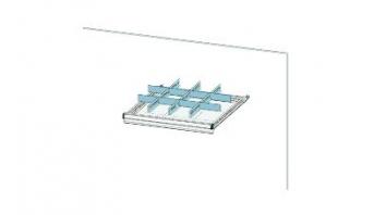 Trennwandset 12 Fächer für 75 mm Schublade