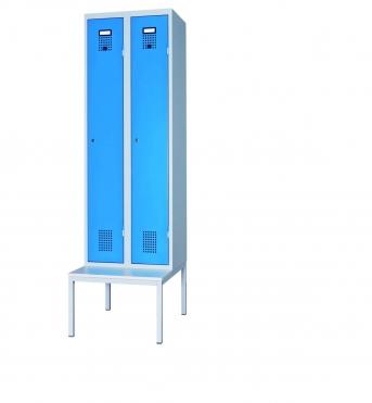 Stahlblech-Garderobenschrank mit 2 Abteilen