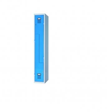 Raumspar-Garderobenschrank Z-Form mit 2 Abteilen