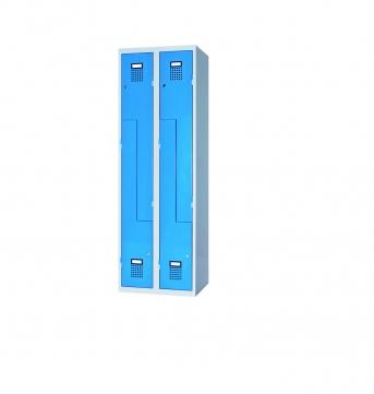 Raumspar-Garderobenschrank Z-Form mit 4 Abteilen