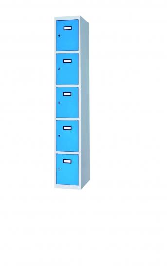 Fächerschrank / Schließfachschrank mit 5 Türen