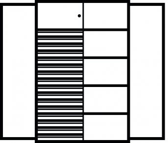 Kombi-Flügeltürenschrank 1950x1200x500 mm mit 4 Böden, 16 Schubladen, 1 Schließfach