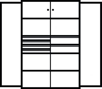 Kombi-Flügeltürenschrank 1950x1200x500 mm mit 2 Böden, 6 Schubladen, 2 Schließfachern