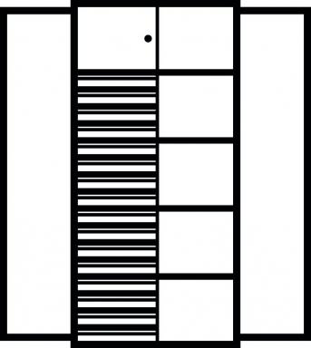 Kombi-Flügeltürenschrank 1950x950x500 mm mit 4 Böden, 16 Schubladen, 1 Schließfach