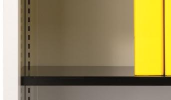 Stahlblech-Fachboden mit Halter für 420 mm Tiefe