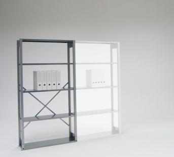 Einfachregal für 4 Ordnerhöhen als Grundregal 947 mm breit