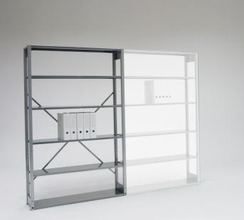 Aktenregal einfach für 5 Ordnerhöhen als Grundregal 1206 mm breit
