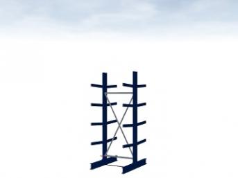 Grundregal Typ M 2500 mm hoch Armlänge 400 mm