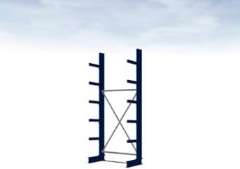 Grundregal Typ M 3000 mm hoch Armlänge 400 mm
