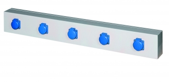 Energieleiste Modul 1000, 5 Steckdosen, ohne Schutzschalter