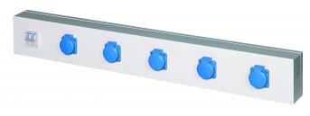 Energieleiste Modul 1000, 5 Steckdosen, mit Schutzschalter