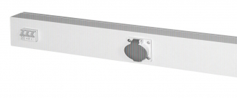 Energieleiste Modul 1000, 2 Steckdosen 400 V, mit Schutzschalter