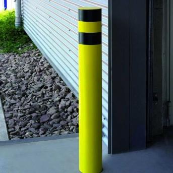 Schutzecke Rundrohr Pulverbeschichtung gelb/schwarz, 1200 mm, 159 mm Duchmesser