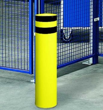 Schutzecke Rundrohr Pulverbeschichtung gelb/schwarz, 1600 mm, 273 mm Durchmesser