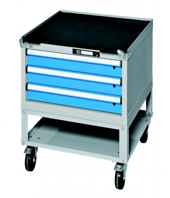 Werkbank-Rollcontainer mit 3 Schubladen, 1 Fach